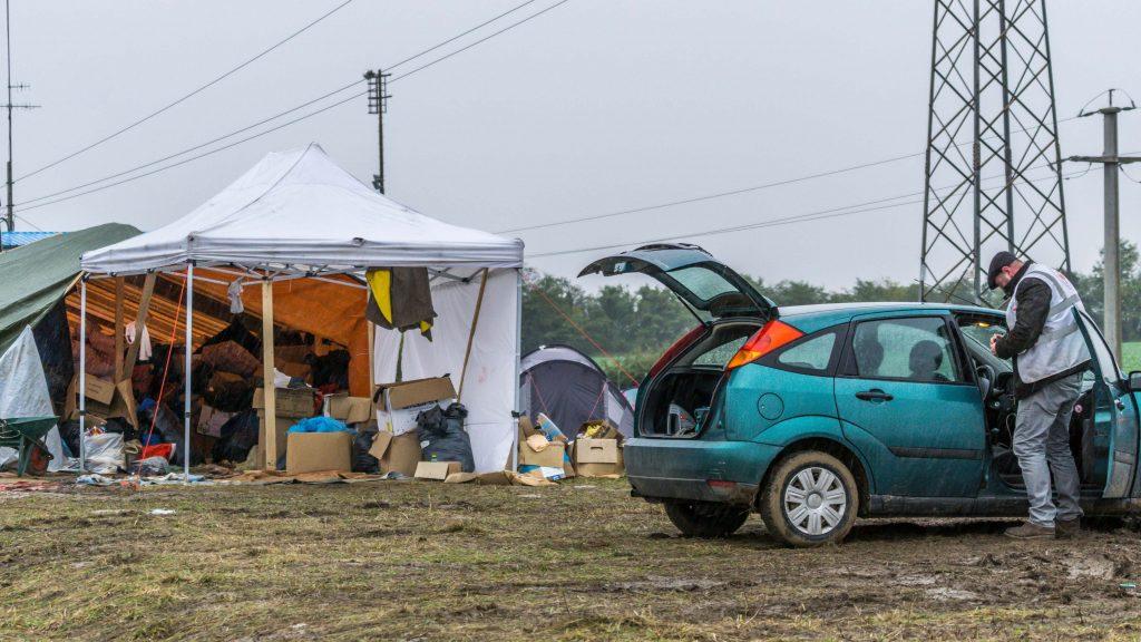 Przejściowy obóz dla uchodźców w Chorwacji