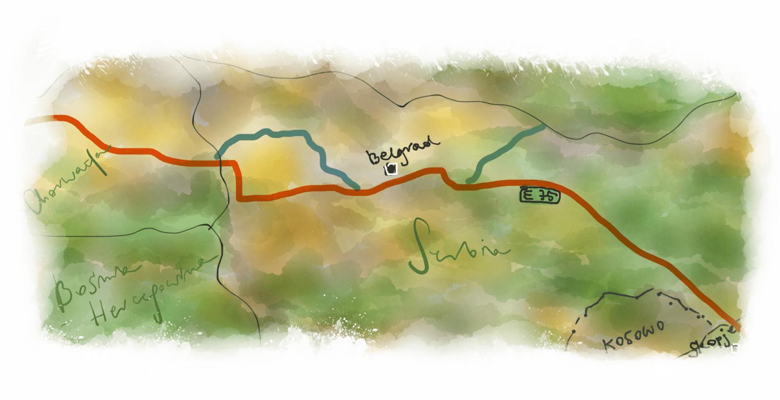Droga Bałkańska - odcinek przez Serbię