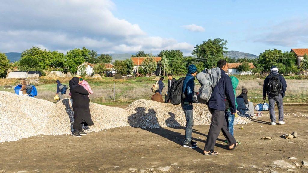 Przejściowy obóz dla uchodźców w Tabanovcach