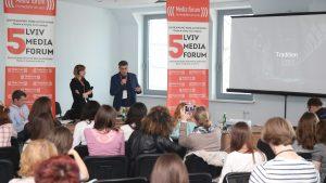 Magdalena Chodownik and Piotr Andrusieczko at Lviv Media Forum 2017